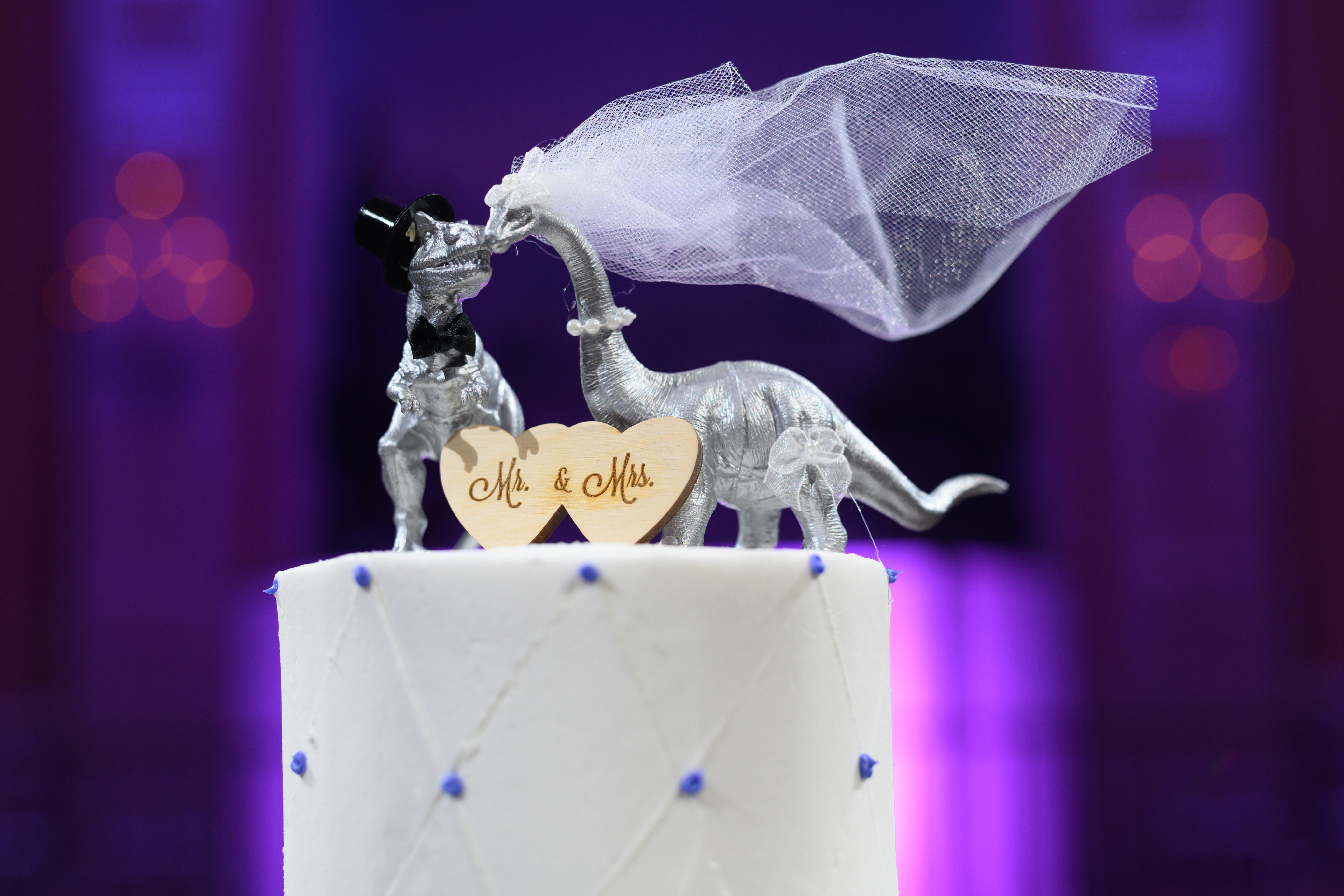 dinosaur wedding cake
